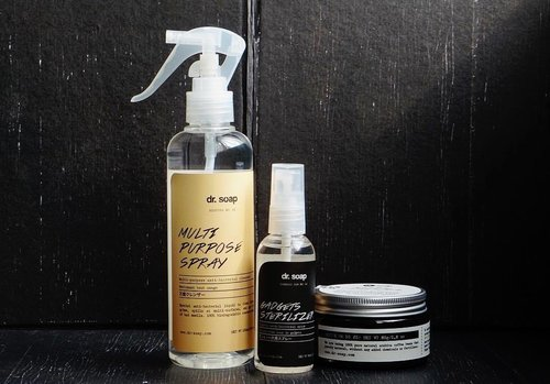 #newin   random haul from @drsoapofficial 🖤 > Really love the packaging 🖤 I got myself some household stuffs such as the multi purpose spray (and the gadget sterilizer for hubby). If a cleaning product looks this cute I hope it would get me excited to do house chores 😜 I also wanted to try their coffee scrub so I got myself one of those too. Review will come soon! . . . . #haul #recentpurchase #homecare #homeliving #domesticgoddess #domesticlife #madeinindonesia #supportlocal #dailylife #instablogger #clozetteid