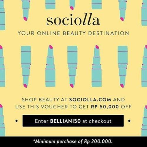 """Kabar baik nih,girls! Setiap belanja di @sociolla min. 200.000 dengan kode """"belliani50"""", kalian akan mendapatkan potongan IDR 50.000. Lumayankan persiapan belanja kosmetik dan skincare baru pas sebelum perayaan Imlek.  Potongan kode """"belliani50"""" berlaku sampai akhir bulan ini ya. #sociolla #beautyblogger #alohabebexsociolla #princesspinkxsociolla #clozetteid"""