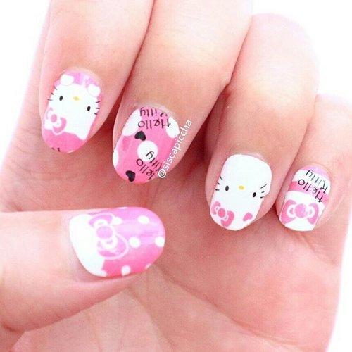 Super Cute Hello Kitty Nail Sticker from @nailart_shops 💄👑 Dari dulu aku suka bikin nail art sendiri dirumah, belum pernah nail ke salon. Tapi kalau nail art sendiri itu butuh waktu yang lama, apalagi susah untuk nail art jari sebelah kanan.  Tapi sekarang udah ada nail sticker dari bahan nail polish jadi hasilnya seperti nail art menggunakan nail polish. Cara pakenya gampang tinggal tempel dan aplikasikan top coat.  Dan murah looh. Cepat, murah, bagus, kurang apa lagi?  Happy long weekend. 😘😘 #piccha #review #impiccha #blogger #beautyblogger #beautybloggerbandung #bloggerbandung #beautybloggerbdg #bloggerceria #clozette #clozetteid #nailart #nailsticker #nailartshops  #sociollablogger #nail #hellokitty #mymelody #pink