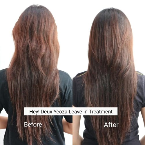 Before - After menggunakan Hey Deux Yeoza Leave In Treatment Moist Day and Enriching Night. Rambutku aslinya kering dan bergelombang maka setiap keramasa aku pasti mengeringkan rambut dengan hair dyer agar lebih lurus. Tapi karena di hair dryer hasilnya rambut jadi kering dan tidak berkilau. Tapi setelah rutin menggunakan Hey Deux Yeoza Leave In Treatment Moist Day and Enriching Night rambutku lebih moist dan mengkilat. *di foto after rambutku terlihat lebih lurus karena sudah di hair dyer dan menggunakan leave in treatment moist day.  More review? http://www.impiccha.com/2018/02/review-rapunzel-hair-day-and-night.html?m=1  Where to buy? Link at bio  #ClozetteID  #indonesiablogger #indonesiabeautyblogger #bloggerBDG  #bloggerbandung #bloggerindonesia #beautyblog #beautyblogger #beautybloggers #beautybloggerbandung #beautybloggerindonesia #indobeautygram #BloggerPerempuan #impiccha #piccha #review #tribepost  #rapunzelhair #heydeuxyoeza #charis #chariscelebedition #charisceleb @charis_official