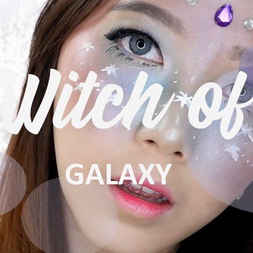 Tutorial Hallowen makeup : Witch of Galaxy.  Karena ga pernah bikin makeup look warna - warni jadi aku beli pallete, eyeliner, dan shimmer dari @citycolorcosmetics , @nyxcosmetics_indonesia , dan @kleancolor totalnya hanya sekitar 200.000 saja.  Maap kurang rapih masih newbie XD.  #tribespost #bdgbbmakeuplook #bdgbbhallowen #hallowen #hallowenmakeup #blogger #bandungbeautyblogger #clozetteid #makeup #makeuptutorial