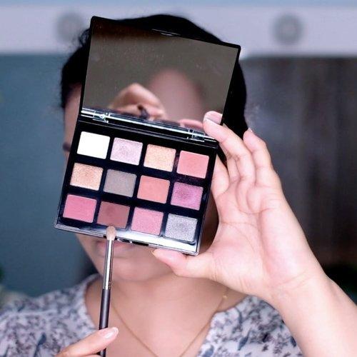 #GRWM current fav makeup sambil nyobain palette baru 🥰 - Makeup used: • NYX total control drop foundation + L'OREAL infallible more than concealer • BEAUTY STORY highbrow eyebrow micromatic • PIXY 4 beauty benefit loose powder •  L'OREAL infallible pro contour & highlight palette • NYX machinist ignite palette • ESQA liquid eyeliner • MAYBELLINE push up drama + push up angel mascara • L'OREAL rouge signature matte color ink + LOOKE holy lip gloss • EMINA cheeklit pressed blush • AMARANTHINE highlighter shade pink kunzite - #motd #makeuptutorial #tutorialmakeup #clozetteid #beauty #smokeyeye #eyemakeup