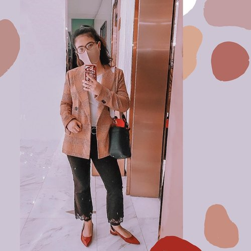1st #ootd during pandemic🧍🏻‍♀️ -  #style #officelook #clozetteid