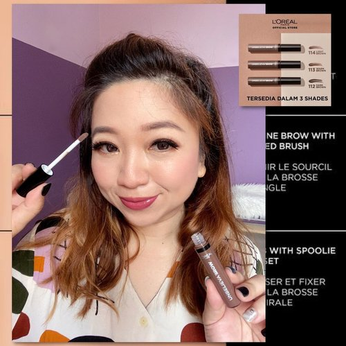 Wearing #UnBelievabrow in Light Brown. More details and info check out my previous post. @getthelookid#BeUnbelievable_________#clozetteid #makeupalis #naturaleyebrows