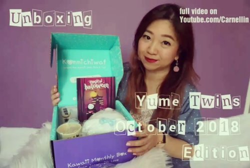 @yumetwins October 2018 is here 😍Let's unbox it together.Full video on my youtube channel:https://youtu.be/9RDHL_tgEg4#yumetwins #unboxing #vlog #clozetteID #youtube #vlogger #octoberbox #youtuber #kawaiibox #noface #kawaii #pokemon #nyanpire #plushie #plushy #halloween #bunny #pawgloves #rabbit #trickortreat