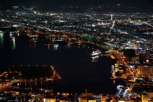 #hakodate night view from above.  We stayed from sunset, looking at the town slowly turning on night lights and becoming charming as it is.  Everything is in order, so peaceful, so comfortable.  #citylights #mounthakodate #live #ClozetteID #familyvacation #Japan #travel #letsho #trip #summervacation #love