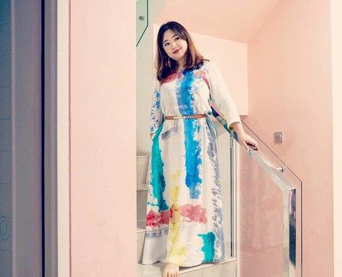 Happy Sunday!!! ...Besok Senin 😋_________#beauty #carnellinstyle #love #colorful  #motd #lotd #ootd #photooftheday #photography #lookoftheday #outfit #outfioftheday #outfitinspo #lookbook #style #styleoftheday #ClozetteID#dressoftheday  #clozetteIDPOTW #maxidress  #colors