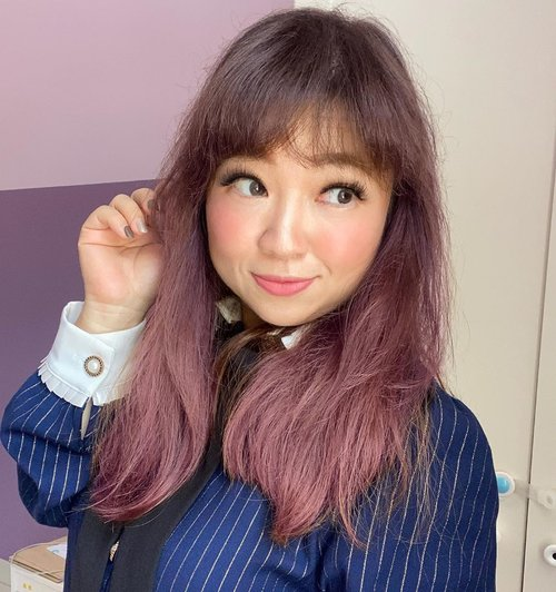 Pinkish purple, anyone?  #haircolor #hairstyle #love #color #pink #purple #purplehair #clozetteID #hotd #styletoday #hello #igbeauty #igdaily #igers #potd #photooftheday #todayshair