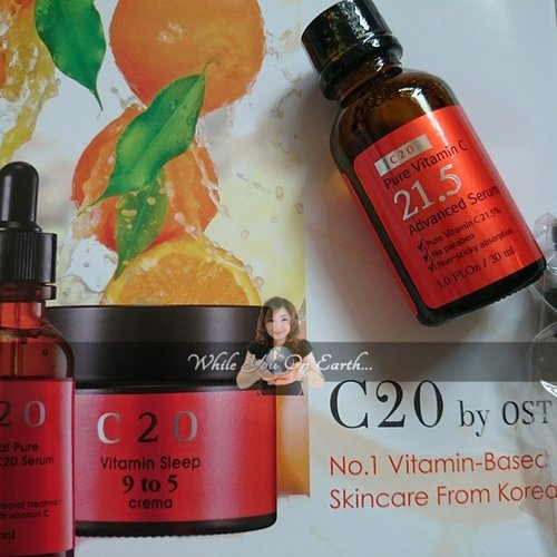 C20 by OST  A vit c serum in high dosage  http://whileyouonearth.blogspot.com/2015/04/ost-c20-pure-vitamin-c-serum.html?m=1  #clozetteid #skincare #serum #vitc #vitaminc #bloggersays #beautybloggerid #beautyblogger #fair #line #wrinkle