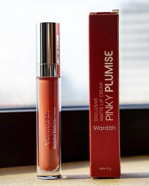 @wardahbeauty Matte Lip Cream, Pinky Plumise.  #wardah #mattelippie #Clozetteid #mattelips #localbrand #indonesiacosmetics #beauty #products #cosmetic #potd #pink #mattelipcream #hello #todaysmood