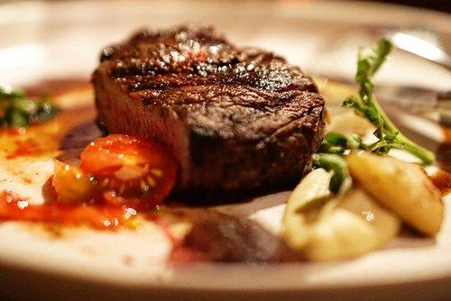 Beef Tenderloin.  _________  Smoke artichoke puree, watercress, and red wine jus.  _________ #steak #delicious #foodies #clozetteID #yums #hotel #lyon #mandarinorientaljakarta #delicious #lyonrestaurant #mandarinoriental #dinner #reunion #foodoftheday #@mo_jakarta #meatlover #foodporn #Indonesia #Jakarta #potd