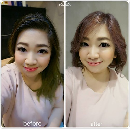 My before after hair makeover with @hairloungeryojisakate. Cutting by @tk4tk4tk4tk4,  bleach and color by @by_samua. Products used are all #shiseidoprofessional http://whileyouonearth.blogspot.co.id/2016/07/hair-lounge-by-ryoji-sakate.html?m=1#lavenderash #peachhair #mediumbob #beautyblogger #clozetteid #hairmakeover #hairstyle #haircolor