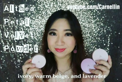 Althea Petal Velvet Powder made from natural ingredients that absorb oils, micro fine texture and comes in three wonderful tone for that perfect setting base.  Full review here: https://youtu.be/ks01x6pN7PU  Thank you @altheakorea  #AltheaAngels #AltheaKorea #beautyreview #Althea #petalvelvetpowder #beautyvloggerindonesia #clozetteID #beautyvlogger #1minreview #1minvideo #youtuber #votd #videooftheday #love
