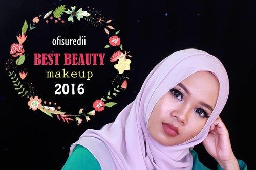 My favorite makeup products in 2016 finally uploaded in my youtube channel👧 Link in my bio ya😊 @indobeautygram . . . . . . . . . . . . . . #ofisuredii #ivgbeauty #pontianakvidgram #indovidgram #makeup #bestmakeup2016 #clozetteid #beautybloggerid #beautyblogger #beautyvlogger #fotd #motd #makeupoftheday