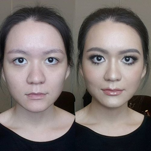What makeup can do for you.Before and after photo of yesterday's makeup by @endi_feng at #nongchatworkshopatindonesia. Photos are taken by my ancient Samsung S4 front camera. #nofilter at all so you can see the real makeup wonders.#ggrep #clozette #clozettedaily #clozetteid #potd #instadaily #clozetteco #starclozetter #instabeauty #instamakeup #modeljakarta #fdbeauty #beforeaftermakeup #thepowerofmakeup