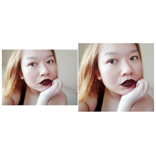When you're supposed to do chores then you found black lip liner and dark red matte lipstick rolling out from the makeup bag! . . #distraction #easilydistracted #mattelips #mixedcolors #love #darklipcolor #indonesian  #bblogger #beautybloggerindonesia #beautyblogger #blogger #clozetteid