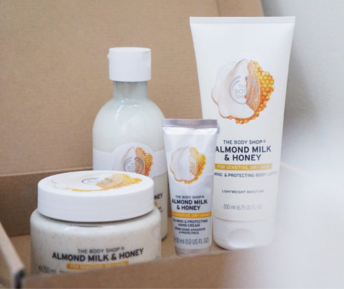 New range from The Body Shop! Read my review at http://bit.ly/tbsmilk ❤️