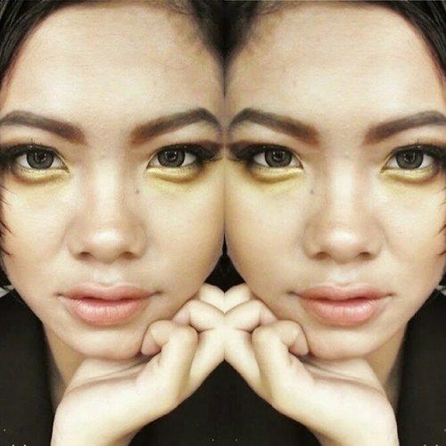 oldie but goldie#goldmakeup #fierce #beautybloggerid #clozetteid #coniettacimund #nudelips
