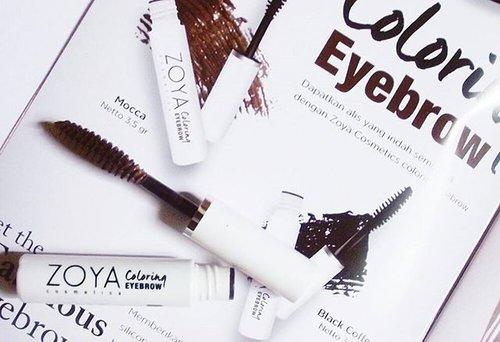Sekarang sudah ada eyebrow maskara dari @zoyalovers lho, produk lokal yang halal 💞💞💞Baca review lengkapnya di http://conietta.blogspot.co.id/2015/12/review-zoya-coloring-eyebrow.html?m=1 atau klik link bio ku.#coniettacimund  #ZoyaCosmetics #HalalCosmetics #beautyblogger #indonesianbeautyblogger #clozetteid
