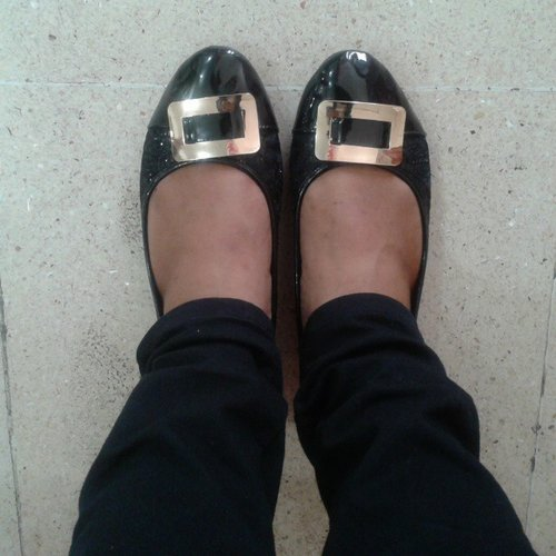 Shoes Of The Day #Day2 #FLD #SequinBlack #FlatShoes #ClozetteID #ClozetteIndonesia #Femaledaily