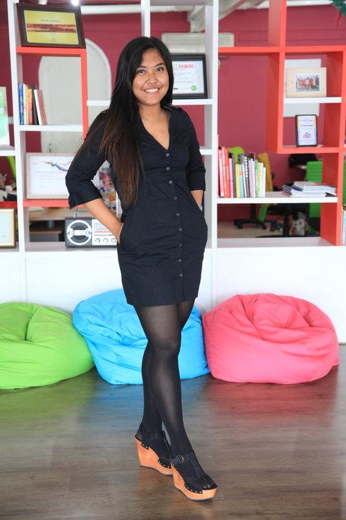 MANGO Black Dress :D