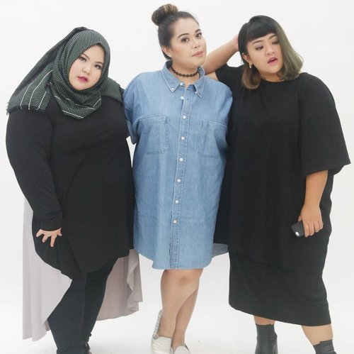 We are just three plus sized woman who wants to reach their dreams, just like you. Lots of people told us we couldn't get it because of our body, but hey, who are you to judge? We did it!!! Meet my friend @riezkiaisah even though she is big size but she teach yoga and look how flexible her body is. And meet my friend @tiraemon, she is so bright, bubbly and a bit clumsy in a cute way in real life, but she know how to pose in front of camera, confidently!!! As for me, I still have lots of dream to achieve and I won't stop. Did I told you that my dream's project is coming soon? hehehehe.  By thew way I am so proud of my two friends 😘😘😘😘. Being a plus size doesn't stop you doing what you like, listening to what judgemental people said about you is stopping you. Just be yourself!!!!!🤗😚😗😙 • • • • • #effyourbodystandards#casual#ootd #bigandblunt#bigsizeootd #celebratemysize#curvyasian #plussizeasian#curves#whatiwear #wiw#clozetteid#인스타패션#인스타뷰티#플러스사이즈 #오늘의의상 #bodypositive #stopbodyshaming #confident # #instadaily #throwback #confidence #bebrave