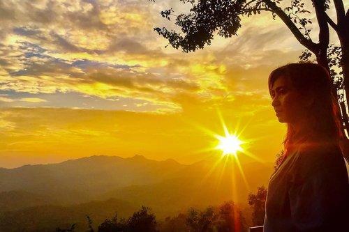 There's a sunrise and a sunset every single day, and they're absolutely free. Don't miss so many of them. . . . . . . #sunday #sunset #sky #orange #weekend #weekendvibes #weekendgetaway #kalibiru #jogjakarta #travel #travelgram #instatravel #blogger #travelblogger #instadaily #instamood #instagood #instamoment #clozetteid #like4like