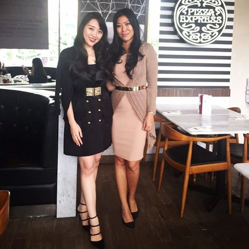 longhair sisters 💋💋 #office #officeattire #officechic #officemate #officewear #clozetteid #sister #ootd #ootdindo #lookbook #lookbookindonesia