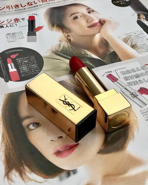 This rouge rock lipstick is wonderful but yet i haven't found any special event to wear this special lipstick.. #lipstick #lips #redlips #ysl #yslbeauty #203 #yslrougerock #clozetteambassador #clozetteid