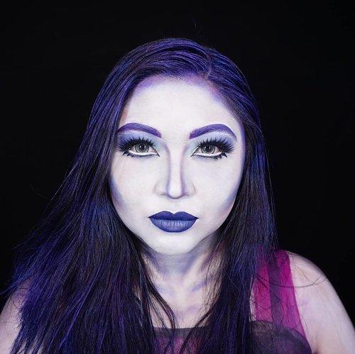 INDIGO . Well, for this rainbow shade I decided to make #spectravondergeist from @monsterhigh makeup look ❤ . . . . #auzolamakeupcharacter #dirumahaja #stayhome #wakeupandmakeup #indigo #indigoblue #monsterhigh #makeupforbarbies  #indonesianbeautyblogger #undiscovered_muas @undiscovered_muas #clozetteid #makeupcreators #slave2beauty #coolmakeup #makeupvines #tampilcantik #mua_army #fantasymakeupworld #100daysofmatkeup #15dayscontentmarathon