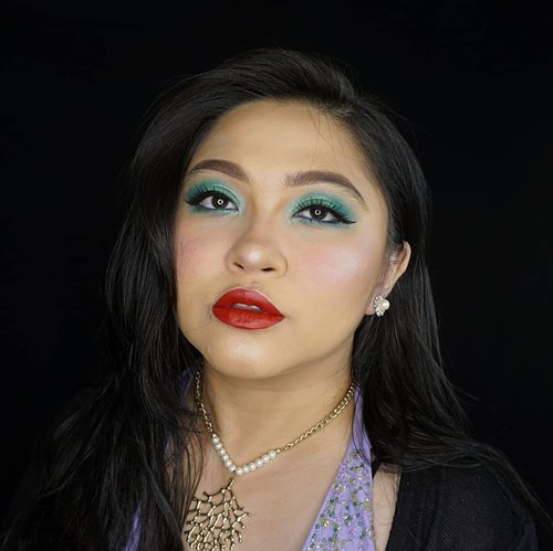 #pantone 2013 #Emerald Makeup Look inspired is now here 💕 . This look is also #ariel #thelittlemermaid inspired, hence the red lips and purple clothes 😁 . Stay tuned for the tutorial🐚🌊 . . . . #coloroftheyear #disney #mermaid #disneyprincess #wakeupandmakeup #makeupforbarbies  #indonesianbeautyblogger #undiscovered_muas @undiscovered_muas #clozetteid #colorful #makeupcreators #beautybloggerindonesia #slave2beauty #coolmakeup #makeupvines #indobeautysquad #fdbeauty #mua_army #fantasymakeupworld #100daysofmakeup