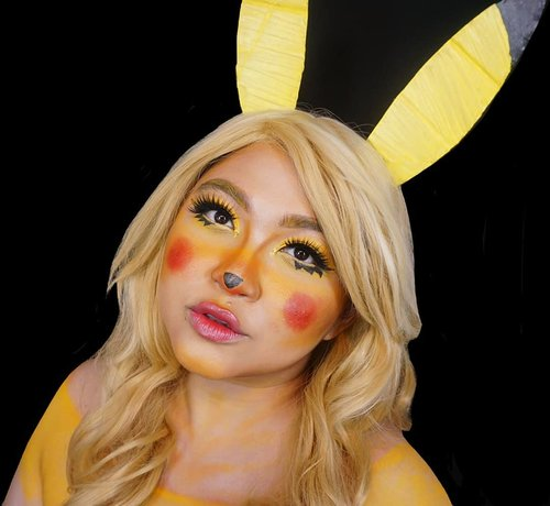 YELLOW . Even tho #mindysrainbowchallenge is done. Tapi kayanya nanggung gitu, so I decided to continue the makeup based on rainbow colors. . . . . #auzolamakeupcharacter #dirumahaja #stayhome #wakeupandmakeup #yellow #pikachu #pokemon #pikachumakeup #makeupforbarbies  #indonesianbeautyblogger #undiscovered_muas #viral @undiscovered_muas #clozetteid #makeupcreators #slave2beauty #coolmakeup #makeupvines #tampilcantik #mua_army #fantasymakeupworld #100daysofmatkeup