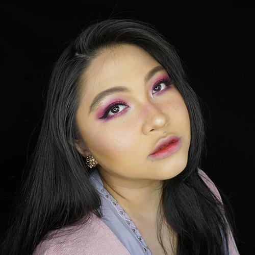Next is #pantone 2014; #RadiantOrchid 🌸 . Stay tuned for tutorial ❤ . 🌸 Face🌸 @shuuemura @maybelline @toofaced @beccacosmetics @fanbocosmetics . 🌸 Eyes🌸 @viseart @juviasplace @nyxcosmetics @gobancosmetics @oriflame @silverswanlash . 🌸 Lips🌸 @esqacosmetics . . . . #coloroftheyear #wakeupandmakeup #makeupforbarbies  #indonesianbeautyblogger #undiscovered_muas @undiscovered_muas #clozetteid #colorful #makeupcreators #beautybloggerindonesia #slave2beauty #coolmakeup #makeupvines #indobeautysquad #fdbeauty #mua_army #fantasymakeupworld #100daysofmakeup