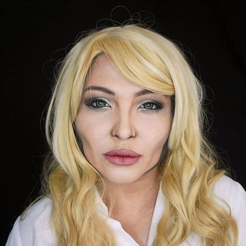 #auzolamakeupcharacter  Ceritanya mau kaya Angelina Jolie pas jadi agent Salt, cuma wig nya ngga ada yang cocok 😅 . Ini look sisaan maleficent, cuma beda warna lipstick aja dan ganti wig 😁 . . . . #jolie #angelinajolie #agentsalt #salt #halloweenmakeup #lookalike #charactermakeup #halloween #wakeupandmakeup #makeupforbarbies  #indonesianbeautyblogger #undiscovered_muas @undiscovered_muas #clozetteid #makeupcreators #indonesianbeautyblogger #slave2beauty #coolmakeup #make.up.vines  #beautybloggertangerang #indobeautysquad #indobeautygram #fdbeauty #tampilcantik #mua_army #fantasymakeupworld #100daysofmakeup