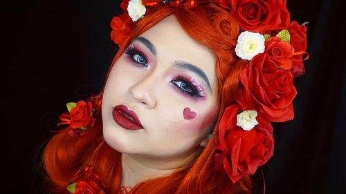 Queen of hearts vibe ❤ . Stay tuned for pictorial tomorrow 😍😍 . . . . #auzolamakeupcharacter #dirumahaja #stayhome #wakeupandmakeup #red #redmakeup #queenofhearts #makeupforbarbies  #indonesianbeautyblogger #undiscovered_muas @undiscovered_muas #clozetteid #makeupcreators #slave2beauty #coolmakeup #makeupvines #tampilcantik #mua_army #fantasymakeupworld #100daysofmakeup #15dayscontentmarathon