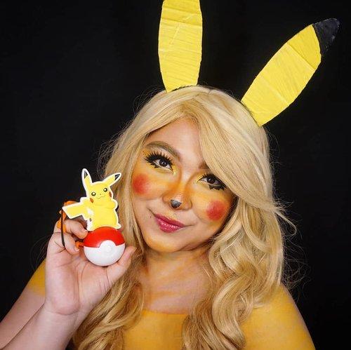 Pikachu! I'll post the tutorial soon! ❤ . Anyway, back in the day I did a cosplay as Pikachu and Ichi as Ash 😂 swipe! . . . . #auzolamakeupcharacter #dirumahaja #stayhome #wakeupandmakeup #yellow #pikachu #pokemon #pikachumakeup #makeupforbarbies  #indonesianbeautyblogger #undiscovered_muas #viral @undiscovered_muas #clozetteid #makeupcreators #slave2beauty #coolmakeup #makeupvines #tampilcantik #mua_army #fantasymakeupworld #100daysofmakeup