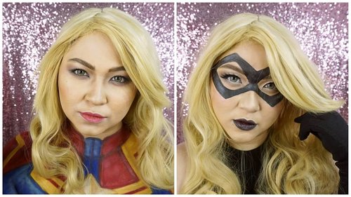 Are you Carol Danvers as Captain Marvel Team or Ms Marvel Team? 😁 . . . . #makeup #superheroes #msmarvel #captainmarvel #marvelcomics #marvel#avengers #caroldanvers #wakeupandmakeup  #makeupforbarbies @makeupforbarbies #beautyblogger #beautybloggerindonesia #dressyourface #hudabeauty #undiscovered_muas #bloggerceria @bloggerceriaid #bloggermafia #clozetteid #fdbeauty #indobeautysquad @indobeautysquad #beautybloggerindonesia @tampilcantik #tampilcantik #beautyjunkie @beautyblogger.tangerang #BeautyBloggerTangerang #makeupgeek #beautychannelid #beautiesquad @beautiesquad