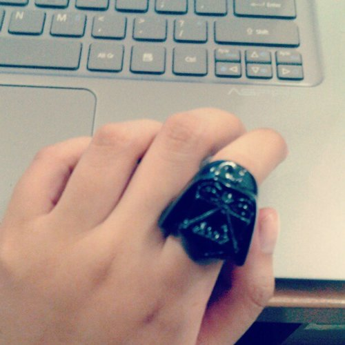 Today's Statement Ring #DarthVader #StarWars #fashion