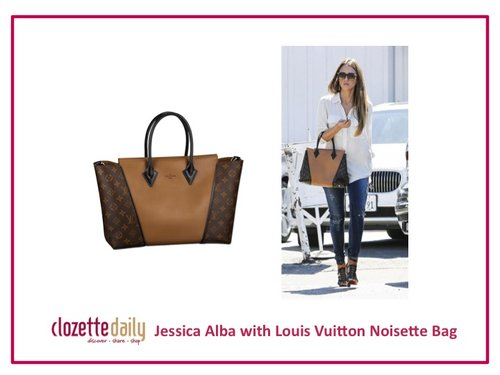 Jessica Alba with Louis Vuitton Noisette Bag