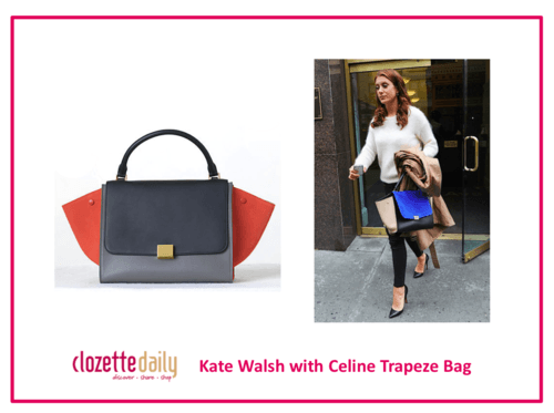 Kate Walsh with Celine Trapeze Bag