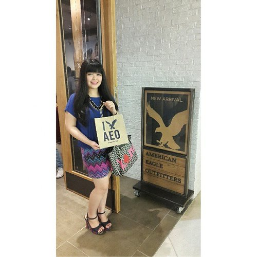 Thank you @clozetteid for invited me as Clozette Ambassador to the opening store of @americaneagleid and gave me free shopping chance ^^ #ootd #americaneagle #ClozetteID #clozetteambassador #openingstore #grandindonesia #aeo