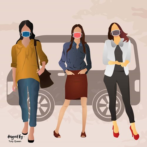 Honestly.. I am proud of my friends who keep their health even though New Normal.  Because health is the main thing, a pandemic still exists.  #NewNormal #protokolkesehatan #pakaimasker #jagajarak #clozetteid