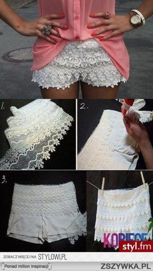 DIY white lace