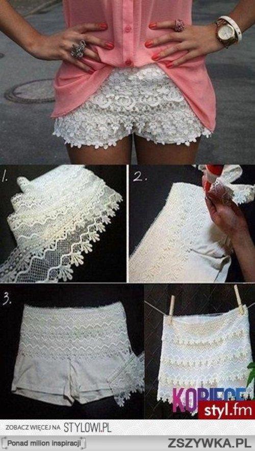 DIY white lace