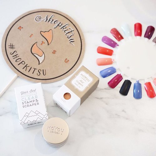 Did you beauty lovers know you can grab @moyou_london nail art plates, polishes and stamper at @shopkitsu ??! Today is their grand opening!!! Drop by and say hi!#kireimakeup #moyoulondon #moyoulondoncanada #clozette #clozetteid #bbloggersca