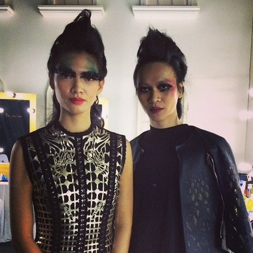 Mr. Uchiide's works for Shu Uemura Brave Beauty collection. Wardrobe by Tex Saverio #clozetteid #kireimakeup #inspiration #kakuyasuuchiide #shuuemura #bravebeauty #bts #androgynous #models #indonesianmodels #fashion #texsaverio #lashes #makeup #makeupartist #makeupmaster #makeupaddict #makeupjunkie #beauty #beautyblog #beautyaddict #beautyblogger #beautyjunkie