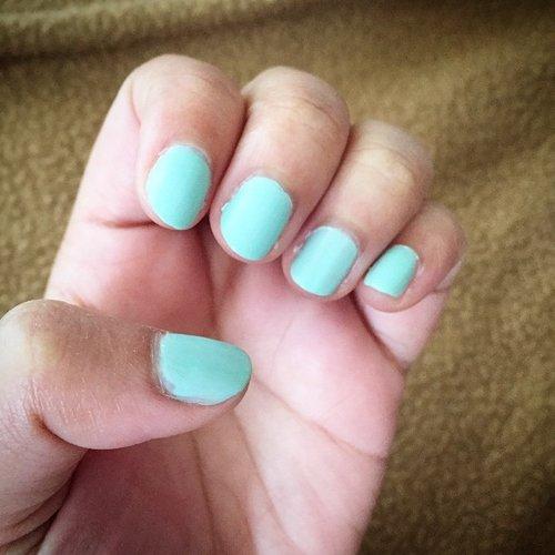 Love this polish color - Essie Fashion Playground! Very spring 💅 #clozetteid #nailpolish #essie #spring #mint #nails #notd #makeupblog #makeupblogger #beautyblog #beautyblogger #nailjunkie