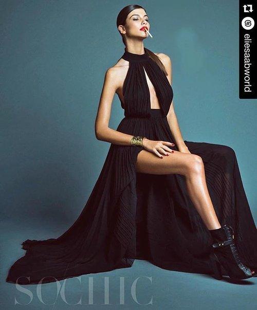 #Repost @eliesaabworld: Lovin' the style! ELIE SAAB Autumn Winter for @SoChicMagazine  #Clozette #ClozetteID