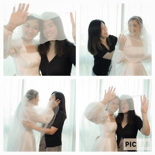 "Tema "" BURUAN NYUSUL monyetku txintah ❤️My best partner in crime. Mpe hari H jg lega krn dr subuh uda ngrepotin dia 😝 bahkan yg merried bangun lbh molor dr dia hahahaha....Wuff yu nyet!!!Photo by @elreasphotographie Eo @#newnormal #lookbookindonesia #beautyguru #beautyvlogger #beautyblogger #clozetteid #bloggerstyle #fashionblogger #fashionstylea #fashionindo #indonesianbeautyblogger #indonesian_blogger #indonesiabeautyblogger #youtubeasia #youtuberindonesia #clozetteambassador #weddinginspiration #duecovid19 #weddingnewnormal"
