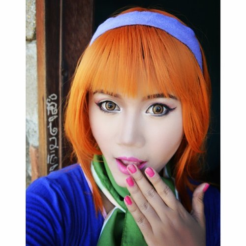 Re-create Daphne Blake from Scooby Doo  I really love her and  i think i would like to cosplay as her. Also i need my fred.  #makeup #makeupforcosplay #makeupcharacter #cosplay #daphne #instabeauty #scoobydoocosplay #scooby_doo #beauty #clozette  #clozetteid  #yukalicious15